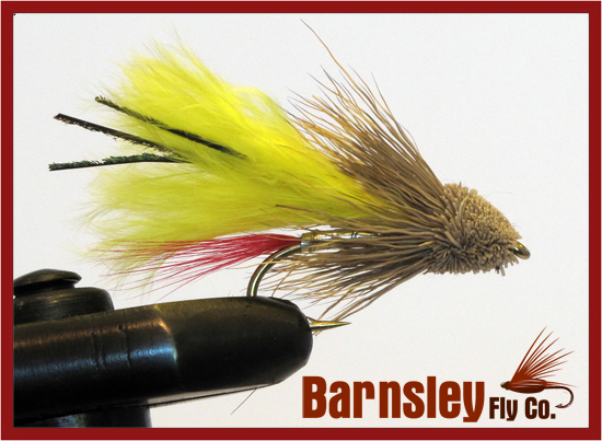 Marabou Muddler Yellow Streamer Fly